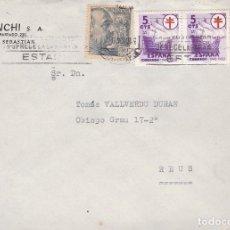 Sellos: F23-98-CARTA SAN SEBASTIÁN -REUS 1949. TUBERCULOSOS. Lote 119969751