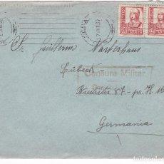 Sellos: F24-47-CARTA FECHADOR ESTRECHO SAN SEBASTIÁN -ALEMANIA 1937. CENSURA . Lote 119992047
