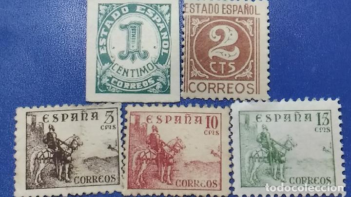NUEVO. AÑO 1940. EDIFIL 914, 915, 916, 917, 918. SERIE COMPLETA. CIFRAS Y CID (Sellos - España - Estado Español - De 1.936 a 1.949 - Nuevos)