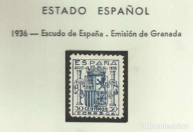 SELLOS EDIFIL 801 - GRANADA - AÑO 1936 LUJO CENTRAJE PERFECTO SIN FIJASELLOS CAT 3.000 € *** (Sellos - España - Estado Español - De 1.936 a 1.949 - Nuevos)