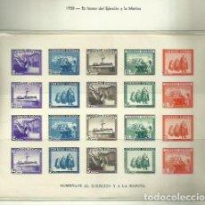 Sellos: SELLOS EDIFIL 850 - EJERCITO Y LA MARINA - AÑO 1938 - HOJA BLOQUE SIN DENTAR SIN FIJASELLOS ***. Lote 120193871
