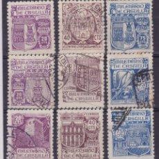 Francobolli: AA35-MILENARIO CASTILLA. EDIFIL 974/ 82 USADOS. SIN DEFECTOS. Lote 120676147