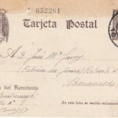 Sellos: TARJETA POSTAL: 1940 BURGOS - BARACALDO ( FABRICA DE GOMAS ). Lote 121023491