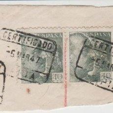 Sellos: LOTE O SELLOS CERTIFICADO TAPIA 1947. Lote 121027095