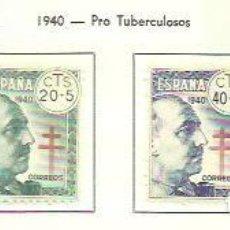 Sellos: SELLOS EDIFIL 936 / 939 - PRO TUBERCULOSOS, FRANCO - AÑO 1940 - CENTRAJE ELEGIDO. NUEVA (4V) CON FIJ. Lote 121231499