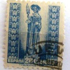 Sellos: SELLOS ESPAÑA 1943. AÑO SANTO COMPOSTELANO. USADO. EDIFIL 961.. Lote 121914651