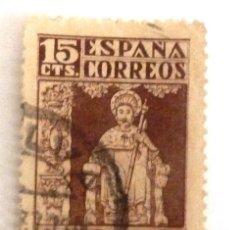 Sellos: SELLOS ESPAÑA 1937. EDIFIL 833. USADO. AÑO JUBILAR COMPOSTELANO.. Lote 121916615