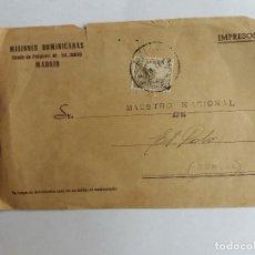 Sellos: TARJETA CIRCULADA 194? MISIONES DOMINICANAS DE MADRID A TERUEL - LEOPARDO - CASADORES. Lote 122552863