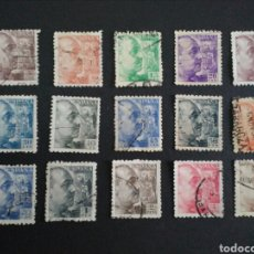 Sellos: 1940/1945. GENERAL FRANCO. SERIE BASICA. DENTADO GRUESO.. Lote 124188946