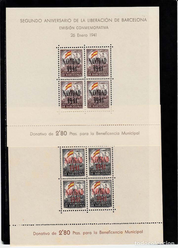 AYUNTAMIENTO DE BARCELONA .-SEGUNDO ANIVERSARIO LIBERACION NAVIDAD 1941 HB NUMS. 31-32 (Sellos - España - Estado Español - De 1.936 a 1.949 - Nuevos)