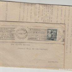 Sellos: CARTA CON ESCRITO .1941 FQ 40 CTS FRANCO MADRID / BARCELONA MAT RODILLO - FRANCO ARRIBA ESPAÑA - . Lote 125418255