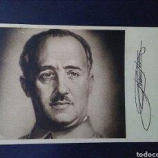 Sellos: ANTIGUA TARJETA POSTAL. GENERAL FRANCO. CASA FILATELICA LLACH. BARCELONA. MBC.1940.. Lote 126160298