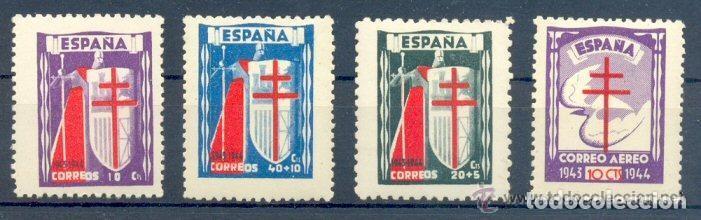 AÑO 1943 (970-973) PRO TUBERCULOSOS (NUEVO) (Sellos - España - Estado Español - De 1.936 a 1.949 - Nuevos)