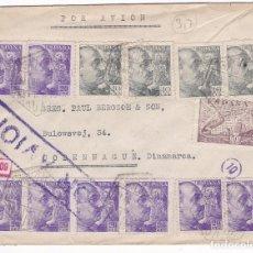 Sellos: F27-6-CARTA MADRID- DINAMARCA 1941- CENSURAS. Lote 126605363
