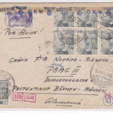 Sellos: F27-9- CARTA SITGES- ALEMANIA 1943. CENSURAS.. Lote 126608587