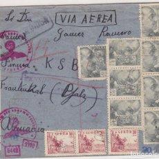 Sellos: F27-10- CARTA ZALAMEA LA REAL HUELVA- ALEMANIA 1943. CENSURAS. Lote 126615223