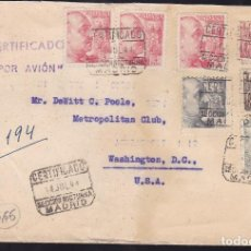 Sellos: F27-16-CERTIFICADO MADRID-USA 1944. CENSURA. Lote 126631019