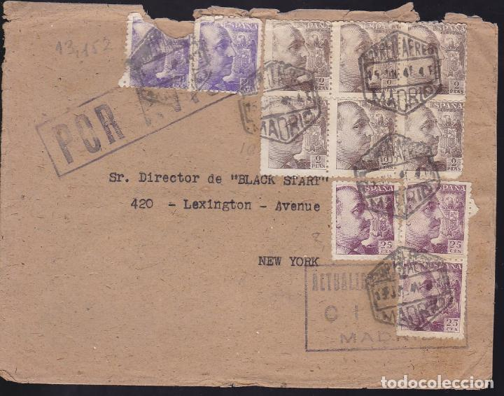 Sellos: F27-21-Carta MADRID -USA 1941. Censuras - Foto 1 - 126704131