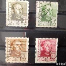 Sellos: F FRANCO, CUADROS R. ZARAGOZA, 1020/23 SERIE DE 1948. Lote 126770127