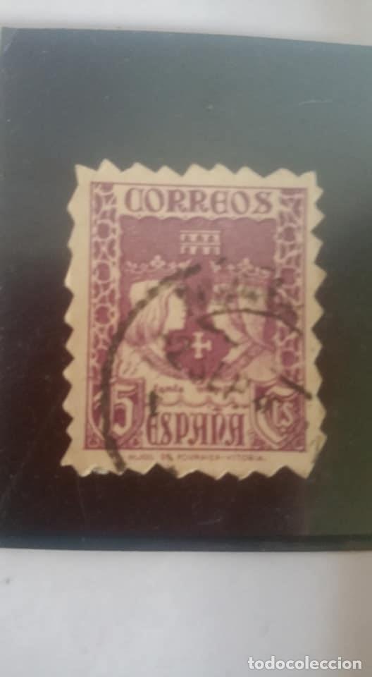 Sellos: 1937. Reyes Católicos. 15 céntimos, violeta. PRECIOSO Y RARO . DENTADO - Foto 2 - 108704955