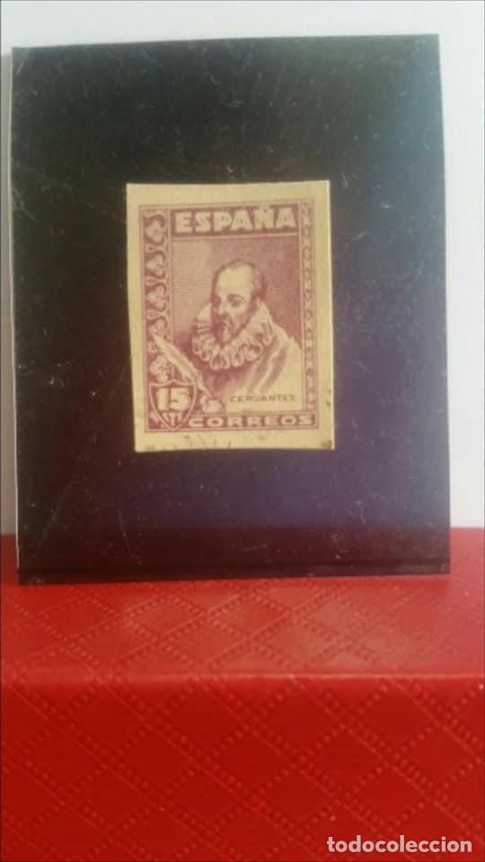 1938 - 1940 / CERVANTES / 15 CÉNTIMOS / VIOLETA PRECIOSO Y RARO SIN CHARNELA (Sellos - España - Estado Español - De 1.936 a 1.949 - Usados)