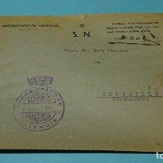 Sellos: SOBRE CON MARCA FRANQUICIA ARZOBISPADO DE VALENCIA A ESPADILLA (CASTELLÓN). 1947. Lote 127944307