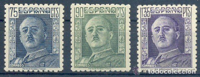 AÑO 1946 (999-1001) GENERAL FRANCO (NUEVO) (Sellos - España - Estado Español - De 1.936 a 1.949 - Nuevos)