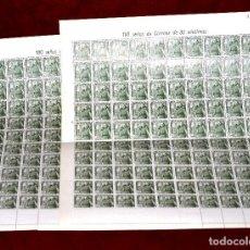 Sellos: DOS PLIEGOS DE SELLOS DE FRANCO,30 CÉNTIMOS,200 SELLOS EN TOTAL, NUEVOS. Lote 127992415