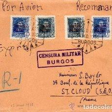 Sellos: ESPAÑA_SOBRE DEL ESTADO ESPAÑOL CON CENSURA MILITAR_MUY BONITO_VER FOTOS. Lote 128092575