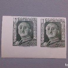 Briefmarken - ESPAÑA - RARA PAREJA PRUEBA SIN DENTAR - 1 PT - NO EXPENDIDO - MNH** -NUEVOS - ALTO VALOR. - 128395019