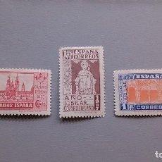 Sellos: ESPAÑA- 1937 - EDIFIL 833/835 - MH* - NUEVOS - SERIE COMPLETA -BIEN CENTRADOS - VALOR CATALOGO 78€. Lote 128396915