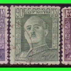 Sellos: 1946 GENERAL FRANCO, EDIFIL Nº 999 A 1001 (O). Lote 128606855