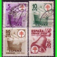Sellos: 1949 PROTUBERCULOSOS, EDIFIL Nº 1066 A 1069 (O). Lote 128625335