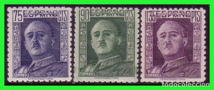 1946 GENERAL FRANCO, EDIFIL Nº 999 A 1001 * * (Sellos - España - Estado Español - De 1.936 a 1.949 - Nuevos)
