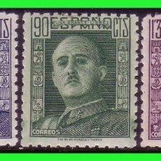 Sellos: 1946 GENERAL FRANCO, EDIFIL Nº 999 A 1001 * *. Lote 128738895