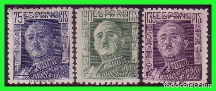 1946 GENERAL FRANCO, EDIFIL Nº 999 A 1001 * (Sellos - España - Estado Español - De 1.936 a 1.949 - Nuevos)