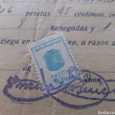 Sellos: PUZOL. VALENCIA. SELLO MUNICIPAL. 0,50 PTAS.. Lote 128765618