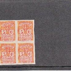 Briefmarken - BARCELONA BLOQUE DE CUATRO NUM. 10 SIN DENTAR NUEVO CON SEÑAL DE CHARNELA - 128793615