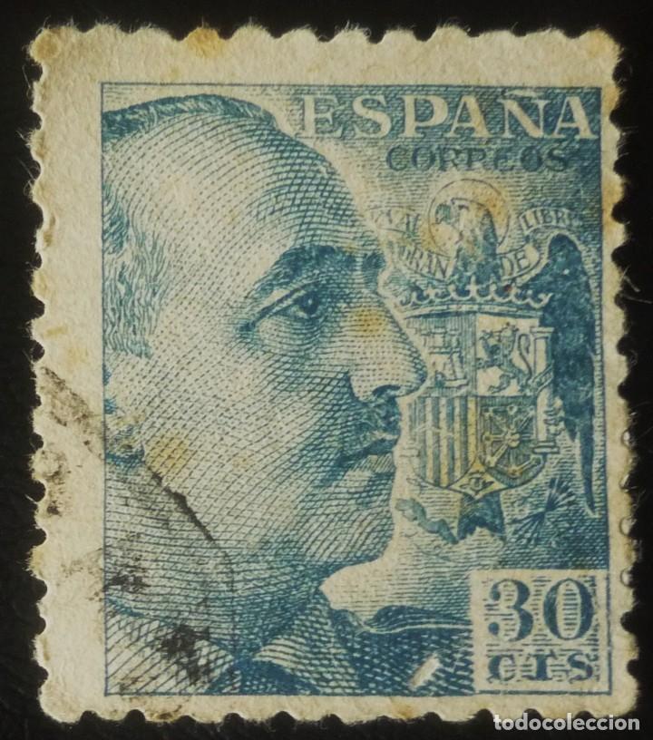 SELLO DE 30 CENTIMOS DE FRANCO (Sellos - España - Estado Español - De 1.936 a 1.949 - Usados)