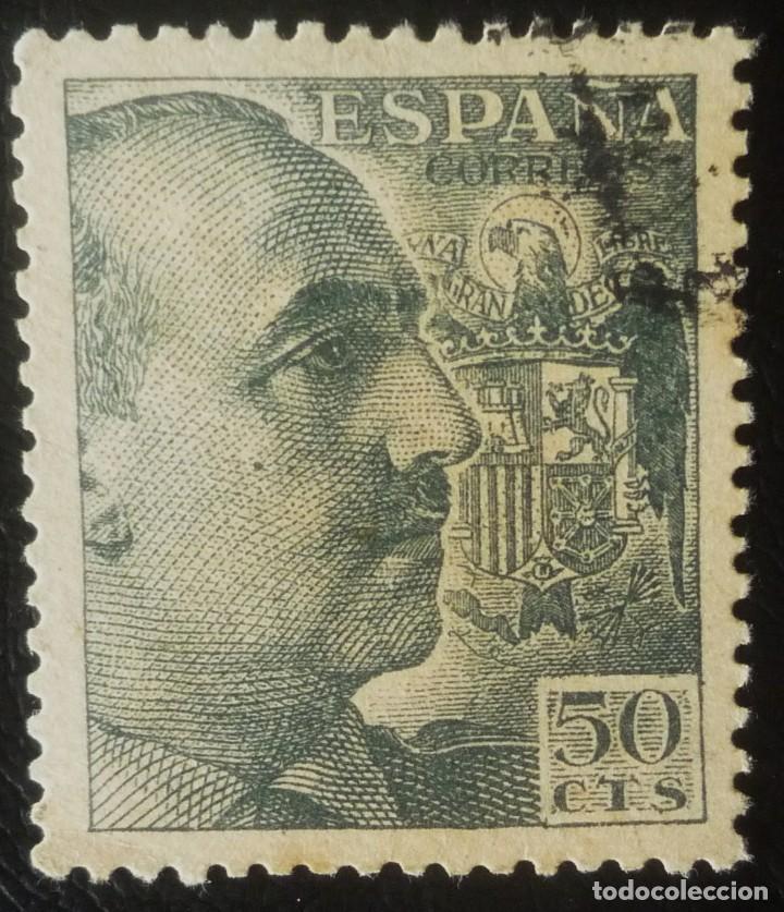 SELLO DE 50 CENTIMOS DE FRANCO (Sellos - España - Estado Español - De 1.936 a 1.949 - Usados)
