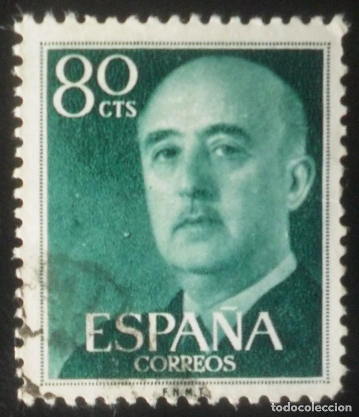 SELLO DE 80 CENTIMOS DE FRANCO (Sellos - España - Estado Español - De 1.936 a 1.949 - Usados)