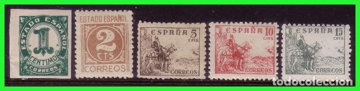 1940 CIFRAS Y CID, EDIFIL Nº 914 A 918 * * (Sellos - España - Estado Español - De 1.936 a 1.949 - Nuevos)