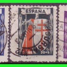 Sellos: 1943 PROTUBERCULOSOS, EDIFIL Nº 970 A 972 (O). Lote 129281523