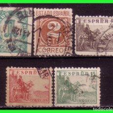 Sellos: 1940 CIFRAS Y CID, EDIFIL Nº 914 A 918 (O). Lote 129315067
