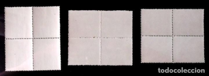 Briefmarken: Edifil 1037-39, bloques de 4, en nuevo y sin charnela. - Foto 2 - 130089899