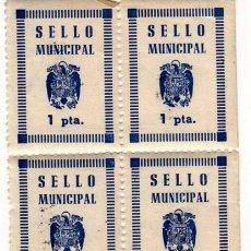 Sellos: 8 SELLOS LOCALES MUNICIPALES 1 PTA. . Lote 130484630