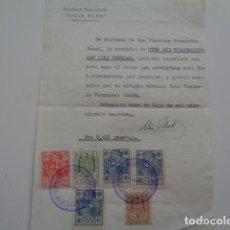 Sellos: BARCELONA. SANATORIO PSIQUIATRICO NUEVA BELEN. 1940.. Lote 130637470