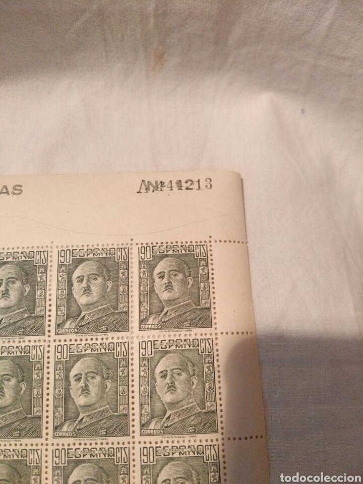 Sellos: PLIEGO DE 100 SELLOS DE 90 CENTIMOS, FRANCO 1948, SIN CIRCULAR - Foto 2 - 131204839