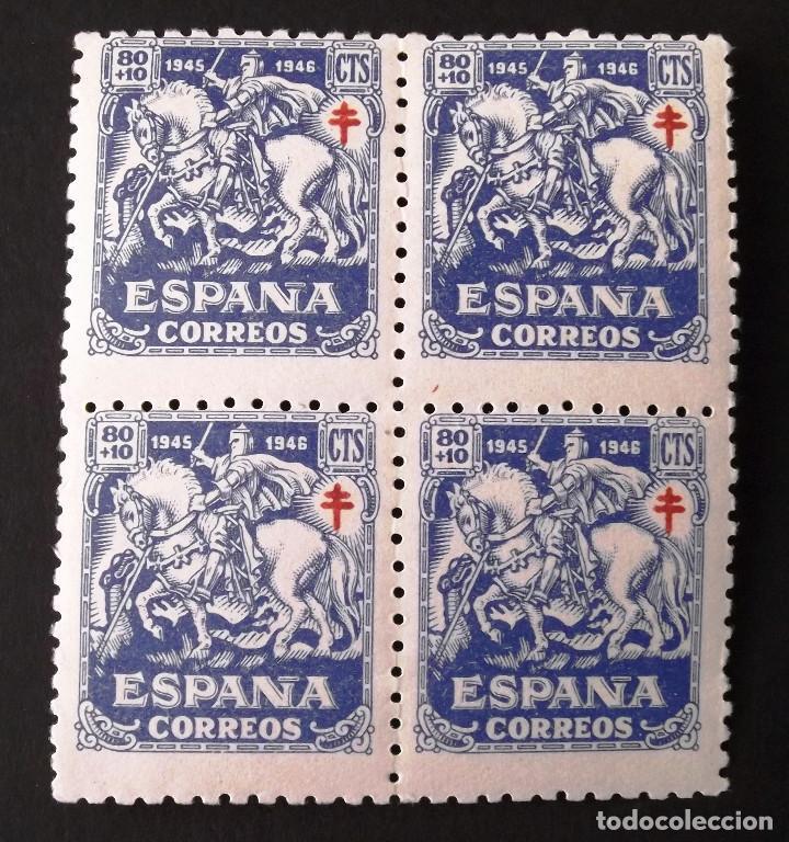EDIFIL 996, BLOQUE DE 4, NUEVO, SIN CHARNELA. (Sellos - España - Estado Español - De 1.936 a 1.949 - Nuevos)