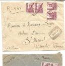 Sellos: 1938 LOTE 2 CARTAS HISTORIA POSTAL GUERRA CIVIL. MOLINA DE ARAGON (GUADALAJARA) A FRANCIA. CENSURA. Lote 133187566